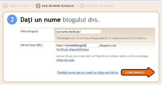inregistrare domeniu blog